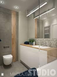 Bad, Waschtisch weiß mit Holz, Wandfliesen in beige, Holzoptik ...