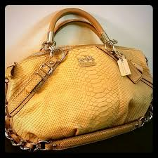 Coach Madison Python Embossed Sophia Satchel