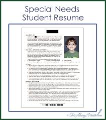 how to create a student resumes shes always write special needs student resume 2014 update