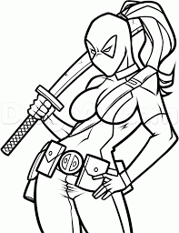 Small Picture Deadpool Coloring Pages Deadpool Coloring Pages Free Printable