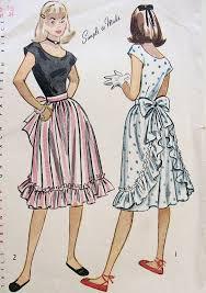 Apron Dress Pattern Adorable 48s Pretty Dress Pattern Simplicity 48 Scoop Neckline Bodice