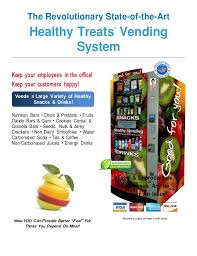Healthy Vending Machine Companies Amazing Company Flyer