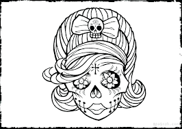 Day Of The Dead Coloring Pages Day Of The Dead Coloring Sheets Day