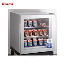 tabletop mini glass door ice cream display fridge freezer