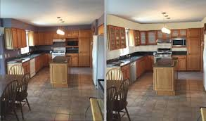backsplash material tbd but considering a glass or stone subway tile painting the purple a warm light yellow perhaps and getting stainless appliances and