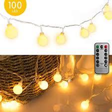 33 FT 100 LED Globe Ball String Lights, Fairy String ... - Amazon.com