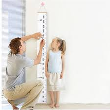 Kids Baby Height Growth Chart Roll Up Wood Frame Fabric Hanging Ruler Children Nursery Room Wall Decor Baby Shower Gift 200cm X 7 23cm