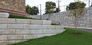 big block retaining wall systems