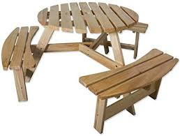natural wood bench. Brilliant Wood Maribelle 6 Seater Natural Pine Round Wooden BenchPicnic Table  For  Garden Pub Wood Bench U