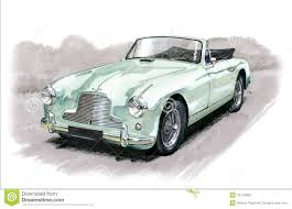Aston Martin DB2/4 editorial photography. Illustration of vintage ...