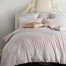 light pink princess style embroidery bedding set 4 queen king size sanding egyptian cotton duvet cover sheet pillow cases boys bedding sets nursery bedding