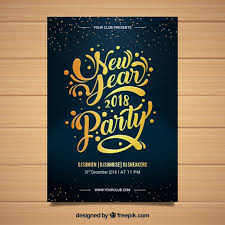 Elegant New Year Flyer Template Vector | Free Download