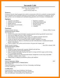 Security Guard Resume Job Campus 6 Sample Supervisor Image