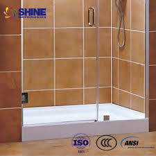 ce ansi space saving 10mm thick frameless glass shower doors