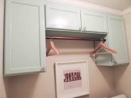 Laundry Room Hanging Rod Shelf