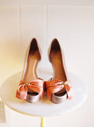 coral wedding shoes. coral wedding shoes pink heels Once Wed