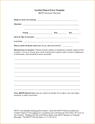 Office Incident Report Template Daycare Incident Report Template