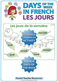 French Days Of The Week French Days Of The Week Caterpillar Activity La Chenille