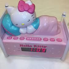 Hello Kitty Digital Am Fm Clock Radio With Night Light Home Furniture Diy Clocks New Hello Kitty Sleeping Kitty