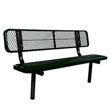 Jeco 50 in. Scroll Curved Back Steel Park Bench-PB003 - The Home Depot