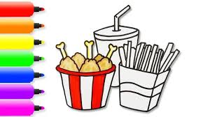 Coloring Pages French Fries Coloringges Learn Colors With Drawing