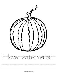 I love watermelon Worksheet - Twisty Noodle