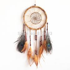 Bamboo Dream Catcher 100pc Free Shipping Native American Style Feather Dream Catcher 20