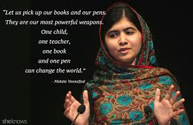 Image result for malala yousafzai quote