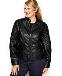 moto jackets plus size lyst jessica simpson plus size faux leather