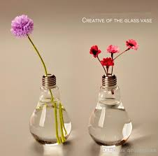 Small Picture Pack Glass Vases Home Decoration Bulb Vases Wedding Party Decor