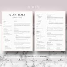 Professional Modern And Minimalist Resume Template For Ms Word