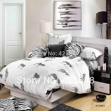 new hot ing black white zebra stripe plaid leopard print full queen size bed linen bedclothes bedding sets bedding sets king zebra print bedding