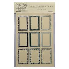 Packet Of 18 Small Self Adhesive Labels In Blue
