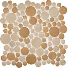 Circle Tiles Ms International Pebble Beach 12 In X 12 In X 8 Mm Glass Mesh