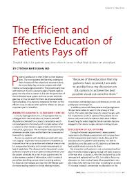 importance of education article education  dr matossian published an article on the importance of educating patients in the 2012