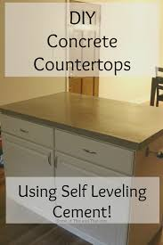 Leveling Kitchen Floor Diy Concrete Countertops Using Self Leveling Cement Some Of