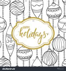 happy holidays black and white card.  White Black And White Pattern Christmas Balls With Gold Frame Inscription Happy  Holidays Design For Inside Happy Holidays Black And White Card T