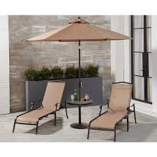 piece lounge set with 2 sling chaise lounge