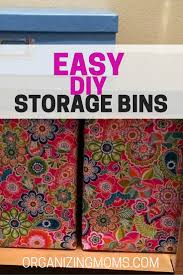 Diy Storage Container Ideas Easy Diy Storage Bins Organizing Moms