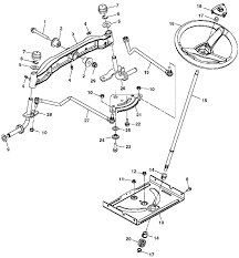 john deere x tractor spare parts john deere x125 steering and front axle exploded parts diagram