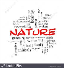Word Of Nature Illustration Of Nature Word Cloud