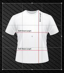 Asian T Shirt Measurement Chart Size Chart