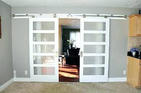 interior sliding barn doors with frosted glass closet the home depot primed white compressed