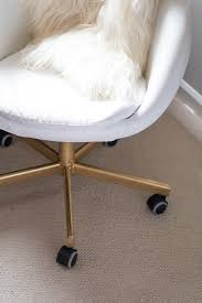 office hack. Gold White Office Chair - DIY IKEA Hack | By Popular DC Blogger
