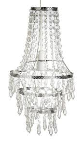 acrylic crystal droplet chandelier lamp shade ceiling pendant