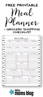 Free} Printable Meal Planner