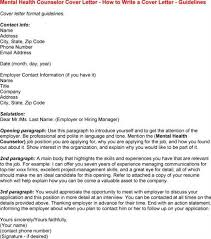 Collection Of Solutions Cover Letter For Mental Health Counselor
