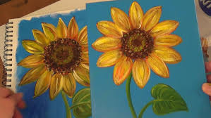 sunflower painting tutorial free acrylic painting lesson