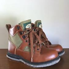 Ll Bean Waders Size Chart Details About Vintage Ll Bean Mens Fly Fishing Boots Size 6 Brown Leather Felt Bottom