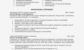 golf professional resume golf course resume thevillas resume and form template ideas